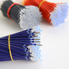 10 PCS New Neutral Ink Gel Pen Refill Neutral Pen Good Quality Refill Black Blue Red 0.5mm Bullet Refill Office And School(China)