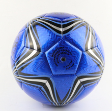 2017 PVC Machine stitched soccer Ball Size 5 Professional Football Ball For Training Blue Star Pattern