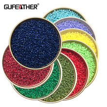 GUFEATHER Z89/2MM beads/Diy High-end seed beads/jewelry accessories/jewelry findings & components/accessories parts 20g/bag(China)