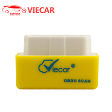 ELM327 V1.5 VIECAR Bluetooth 2.0 OBD2 Auto Diagnostic Scan Tool Yellow Support SAE J1850 Can Decrease Car Battery Loss(China)