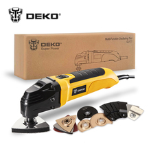 DEKO 220V AC Variable Speed Electric Multifunction Oscillating Tool Multi-Tool DIY Power Tool Electric Trimmer saw 8 Accessories(China)