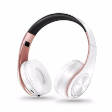 New arrival colors wireless Bluetooth headphone stereo headset music headset over the earphone with mic for iphone sumsamg(China)