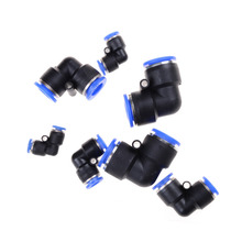 Discount 5 Pcs/Lot Pneumatic Push In Elbow Fitting Connector PV for Air/Water Hose & Tube Airline 5Pcs Same Size Wholesale(China)