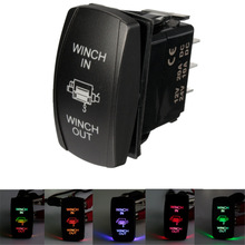 New 12V Winch In Winch Out ARB Rocker Switch (ON) - OFF - (ON) Blue Green Red Yellow