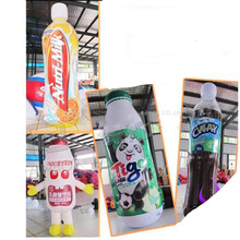 Advertising Inflatable Beverages Bottle 4m high Outstanding, customize High Inflatable Drink Bottle with blower(China)