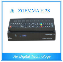 2 pcs/lot DVB S/S2 twin tuner enigma 2 Linux fastest running ZGEMMA H.2S Satellite tv receiver support world tv receiver