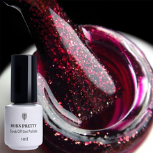 BORN PRETTY Glitter Sequins UV Gel Pink Clear Black Red Soak Off Polish Manicure Nail Art Gel Varnish Tool(China)