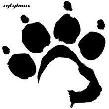 Rylyons puppy dog paw printing stick on car smooth wall window glass 13.5x13 cm half price for 2nd one(China)