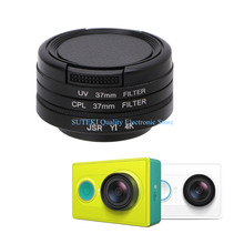 Free Shipping 37mm UV CPL Filter Cover Lens Protective Cap For Xiaomi Yi Sport Action Camera(China)