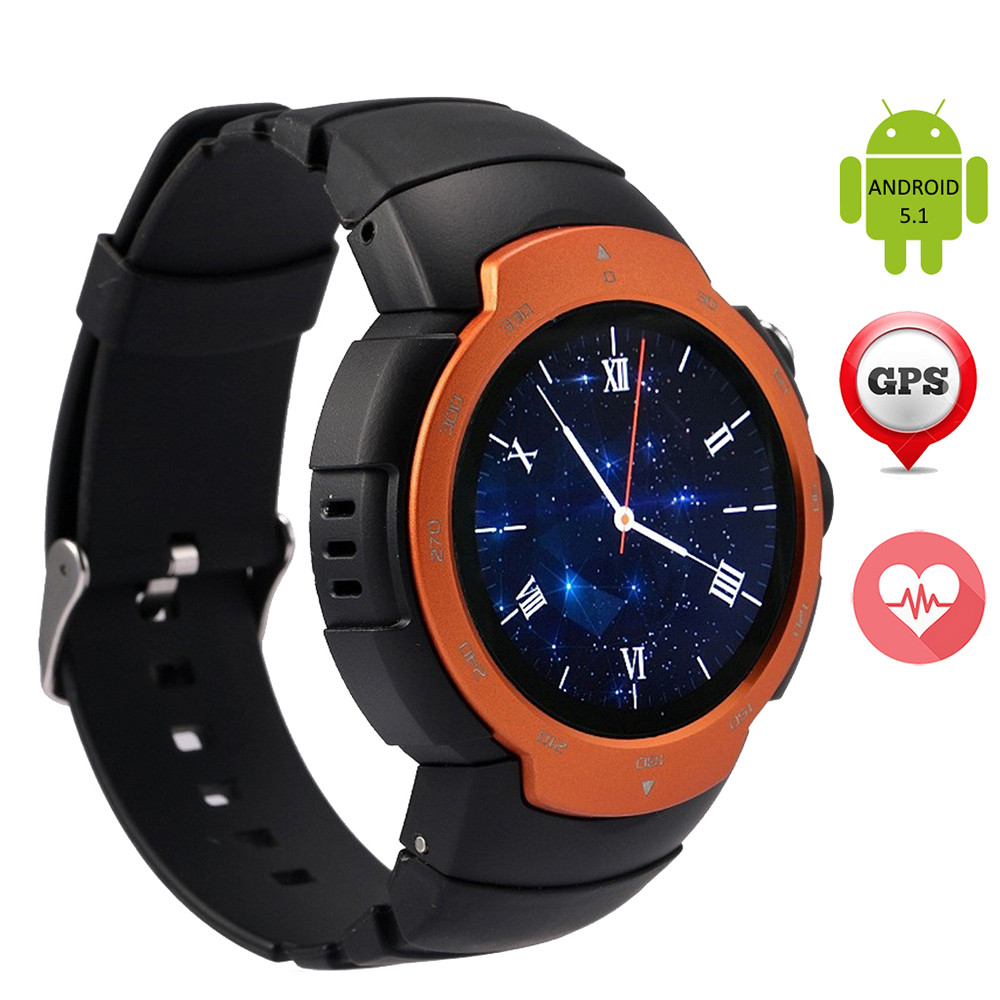 Z9 Smart Watch Heart Rate Monitor Wristwatch Android Phone GPS WIFI FM Video Camera 2G/3G SIM Card MP3 Player Bluetooth 4.0(China)