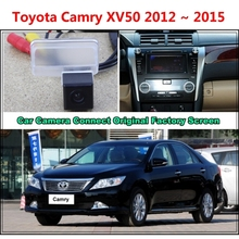 For Toyota Camry XV50 2012 ~ 2015 Car Camera Connected Original Screen Monitor and Rearview Backup Camera Original car screen