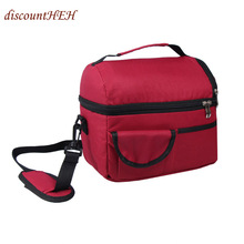 Insulated Food Bags Lunch Cooler Picnic Containers School Dinner Ice Travel Shoulder Holiday Box(China)