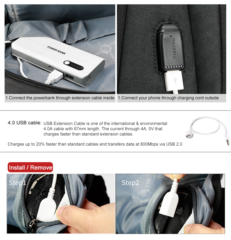 16 anti-theft backpack usb charging