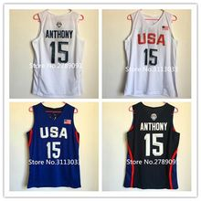 #15 Carmelo Anthony 2016 Dream Team USA basketball jersey Embroidery Stitched(China)