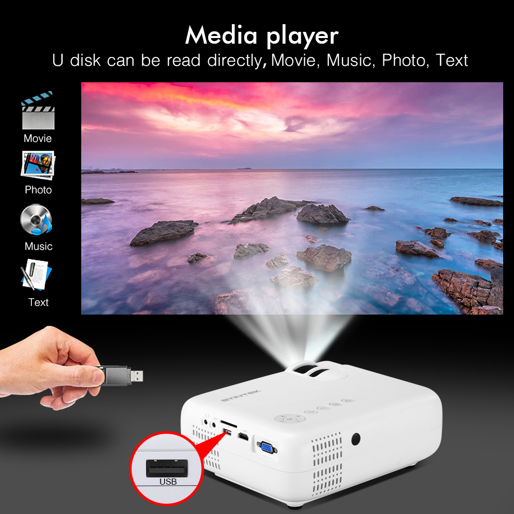 BYINTEK SKY K2 150inch LED Mini Micro Portable Video HD Projector with Speaker HDMI USB For Game Movie 1080P Cinema Home Theater (8)