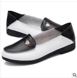 Promotions!!2014 autumn mother work shoes genuine leather women shoes Slip-on Ballet Flats Comfort Anti-skid Shoes 4 Colors 1292<br><br>Aliexpress