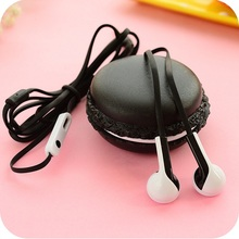 Popular Cute Macaroon Earphones Wire Control colour Earphone With Microphone for iphone 6 6s 5  Xiaomi Samsung Smartphones PC