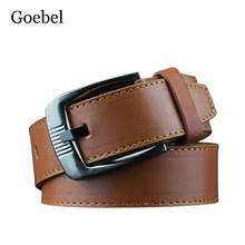 Goebel Man Brand Belt Casual Belt Boss Men Pin Buckle Fashion All-Match PU Leather Luxury Designer Belts Men(China)