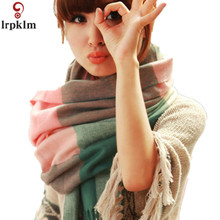 2017 Brand Cashmere Design 180cm Scarf Plaid Fashion Warm in Winter Shawl For Women Imitation Pashmina Shawl Tassel  WJ09