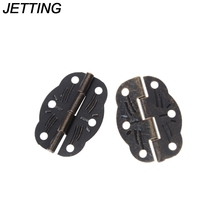 10 PCs Door Butt Hinges Alloy rotated Antique Bronze 30mm x22mm Tool Parts Furniture Hardware Hinges (With Screws)(China)