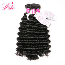 Fabc Hair Malaysian Deep Wave Hair Extensions 1Pc 100g Human Weave Hair Bundle 100% Remy Hair 10-28 inch Free Shipping