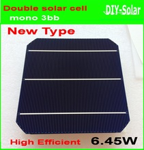 10 Pcs 64W 156MM Double-sided Monocrystalline Silicon Solar Cell New high efficiency Grade A For DIY Solar Panel