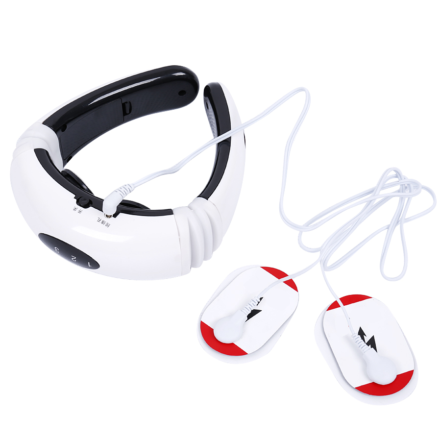 Hot ! Cervical Vertebra Treatment Instrument Electric pulse Back and Neck pillow massager Acupuncture magnetic therapy<br><br>Aliexpress