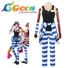 CGCOS Free Shipping Cosplay Costume Cos Nanbaka Detentionhouse Uno Uniform Anime Halloween Christmas New in Stock Any Size