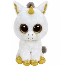 TY Beanie Boos Pegasus the Unicorn Beanie Babies Plush Stuffed Doll Toy Collectible Soft Big Eyes Plush Toys(China)