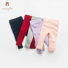 Simyke Children's Winter Warm Sweater Pants 2017New Girls Fleece Trousers Kids Pants For Toddler Boy Child Brand Clothing G6285(China)
