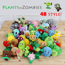 1pcs 48 Style PC Game Plants vs Zombies Plush Toys Plants Soft Plush Dolls Stuffed  Doll Figure Toy for Kids Children Gift M1-8