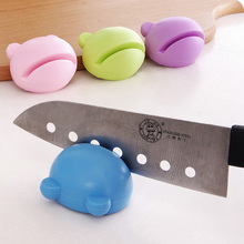 Useful Cute Mini Multifunction Knife Sharpener Whetstone Home Kitchen Knife Grinding Mill Scissors Kitchen Tools Random Color(China)
