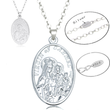 Virgin Mary Necklace Silver Women Religious Jewelry Christian Colar Bead Necklace Pendant Jesus Piece Gifts For Christians