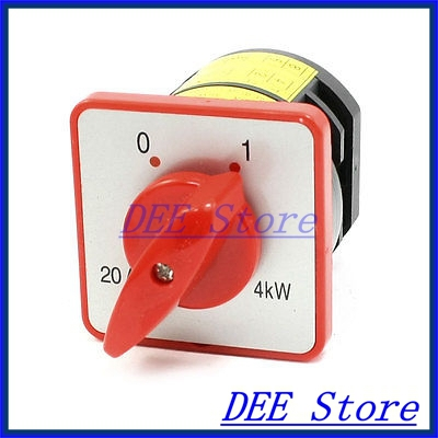 AC 380V 20A 8 Terminal Lock 2 Position Cam Combination Changeover Switch<br><br>Aliexpress