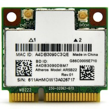 Atheros AR5B22 AR9462 2.4GHz & 5GHz 300Mbps Half Size Mini PCI-e WiFi Adapter PCi Express WiFi Wireless Card with Bluetooth 4.0