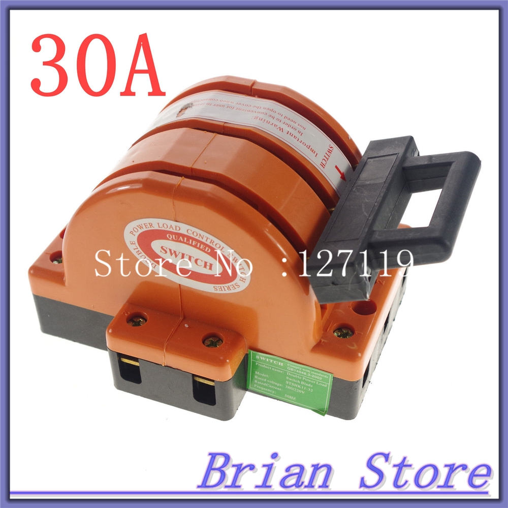Heavy Duty 3Poles Double Throw 3PDT 30A Safety Knife Blade Disconnect Switches<br><br>Aliexpress