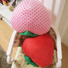Yesfeier 30/40cm Cartoon doll New Style Strawberry pillow Stuffed plush Sheep Cushion Strawberry plush toys Soft decoration