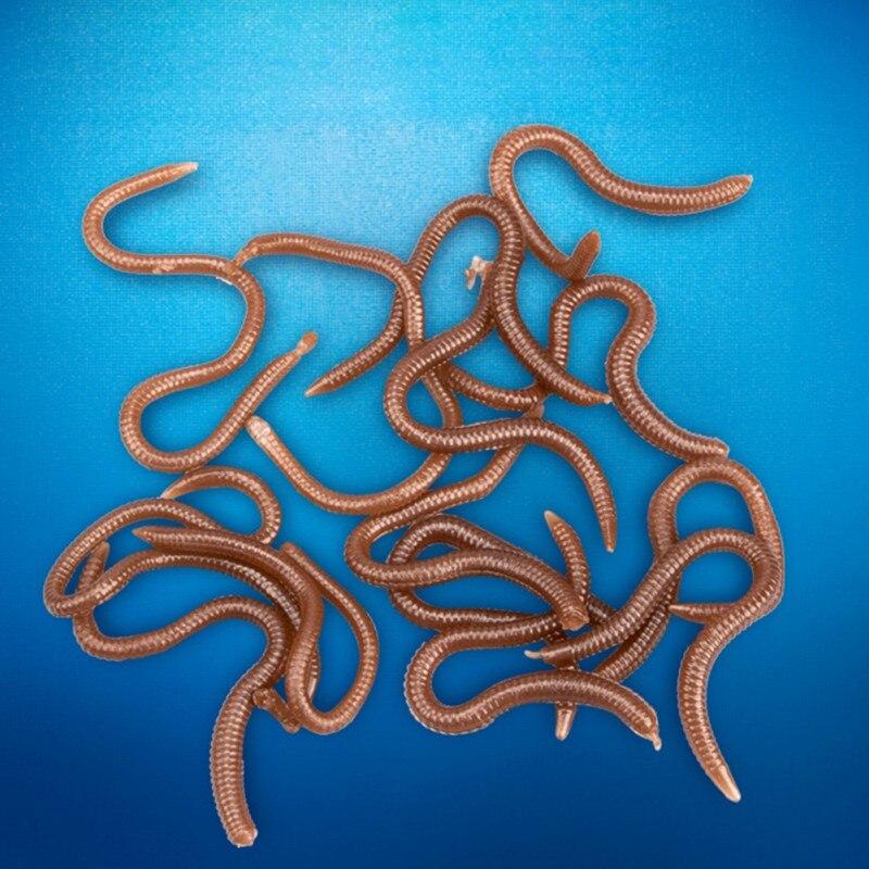 40 Stücke Kohlenstoffstahl Weichen Köder Haken Offset Schaft Gerade Wurm