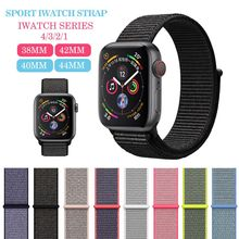 Sleek and comfortable, soft and breathable, the nylon sport strap is apple series 1/2/3/4 knitted wristband 38 mm 40mm42 mm 44mm(China)