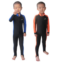 2015 SBART Wetsuit Kids Lycra Hooded Long Sleeve Full Body Swimwear Boys Girls Wet Suit Diving Suits Lycra Dive Skins UPF 50