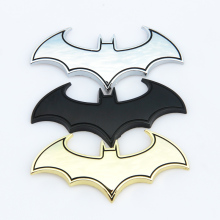 3D Metal Bats Car stickers metal car logo badge badge Last Batman logo stickers decals motorcycle Styling decals Car Styling(China)