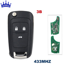 3 Buttons 433MHz With ID46 Chip Remote Control Key Fob for Chevrolet Cruze Aveo Orlando 2010-2015 HU100 Blade(China)