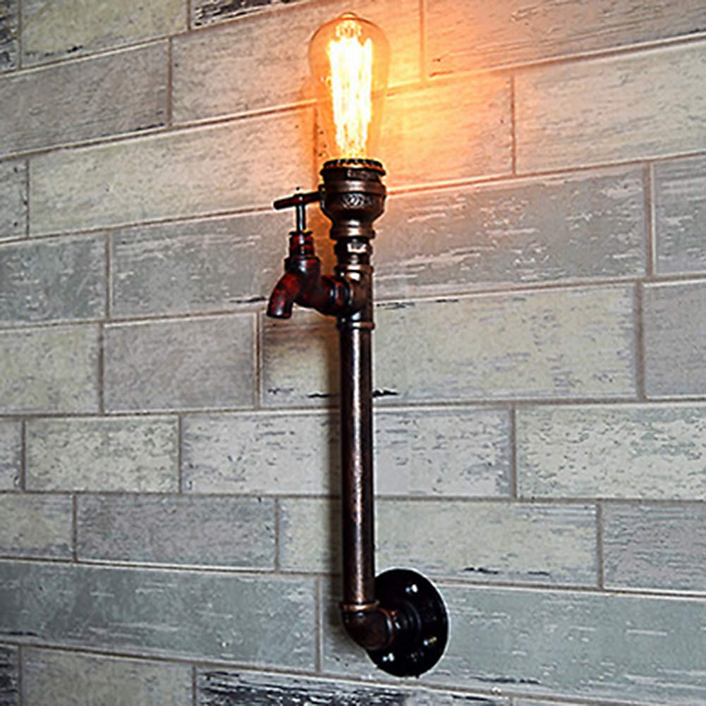 40CM Height Retro Waterpipe Iron Wall Lamp Sconces Indoor Lighting Dining Room Kitchen Vintage Deco E27/E26 Wall Light Fixtures<br>