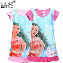 Bibihou Moana Dress Children Clothing Summer Dresses Girls Baby Pajamas Costume Princess Nightgown Vestidos Infantis Clothes Set