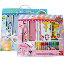 Painting stationery box  Children Stationery Sets Kids  student Gift   oil  watercolor sketch tool