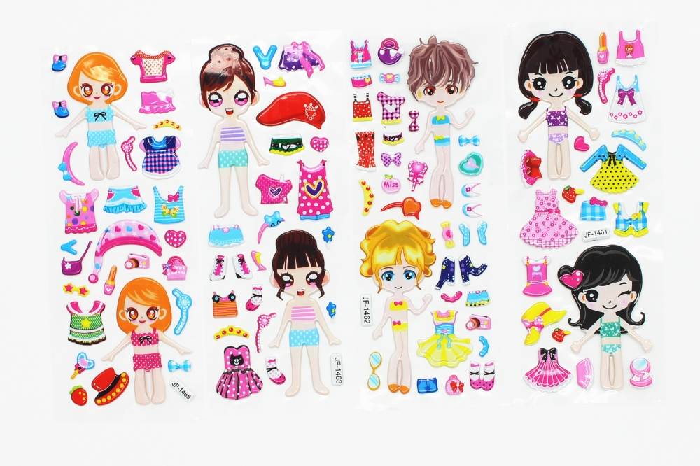 8-Sheets-Princess-Dress-bubble-stickers-Cute-DIY-Stickers-Lovely-Girls-Dress-up-Girl-Changing-Clothes (4)
