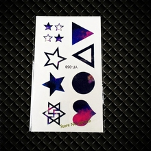 Hot New Flash Temporary Tattoos GYF-058 Stars Heart Geometry Design Sexy Lady Women Nightclub body Makeup Waterproof fake Tattoo