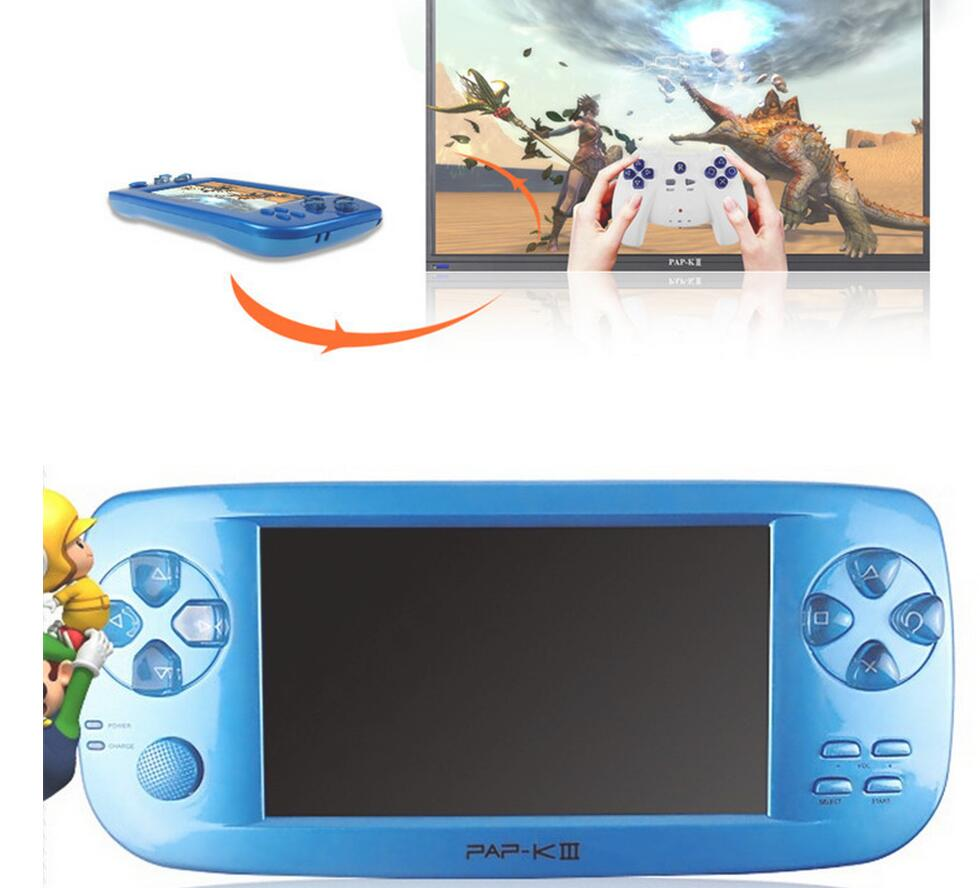 PAP KIII 4.3″ Handheld Games Consoles 4GB Portable Video Game Built in 600 Games with Camera Support CP1/CP2/NEOGEO/GBA/GBC/GB