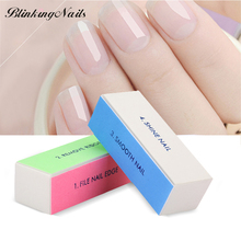 The Newest Nail Art Buffer File Block Sponge Nail File and Buffer Manicure Tools 4-Side Removal Tool for Gel Nail Polish Block