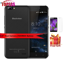 Blackview A7 Dual Rear Cameras Mobile Phone 5.0 inch HD MT6580A Quad Core Android 7.0 1GB RAM 8GB ROM wcdma Smartphone